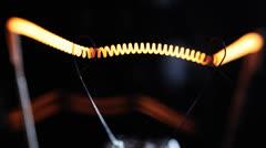 Real light bulb flickering. Stock Footage