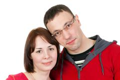 Portrait of couple in love Stock Photos