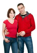 portrait of couple in love - stock photo