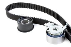 Roller and timing belt Stock Photos
