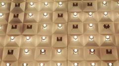 Nightlife, Incandescent Lights Bulbs, Golden Display Ceiling, Las Vegas Strip Stock Footage