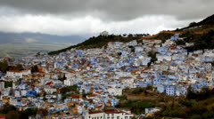 Stock Video Footage of Chefchaouen blue town, Morocco.