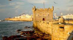 Essaouira Fortress. Morocco, Africa Stock Footage