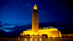 Hassan II Mosque in Casablanca. Morocco, Africa Stock Footage