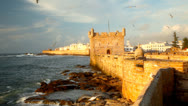 Stock Video Footage of Essaouira Fortress. Morocco, Africa