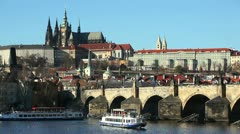 Prague,Charles Bridge Stock Footage