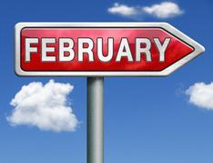 february - stock illustration