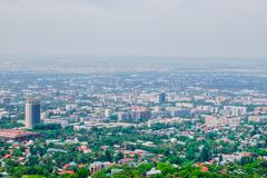 Almaty, cityscape, panorama Stock Photos