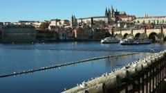 Prague,Charles Bridge - stock footage