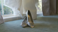 Stock Video Footage of Wedding shoes dolly shot