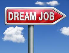 dream job - stock illustration