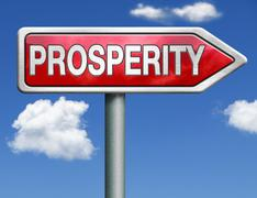 Prosperity road sign arrow Stock Illustration