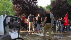 Gezipark Protest Stock Footage