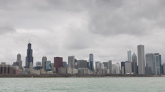 Office Skyscrapers, Financial Cityscape, capital, Downtown Chicago Skyline - stock footage