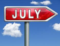 July Stock Illustration