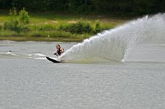 Boy water skiing Stock Photos