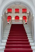 staircase, the entrance to the palace - stock photo