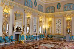 Sininen huone Katariinan palatsi Kuvituskuvat