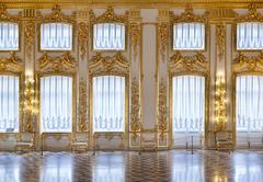 The windows of the hall of gold Stock Photos