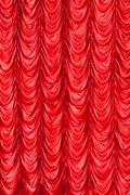 stage red curtains - stock photo