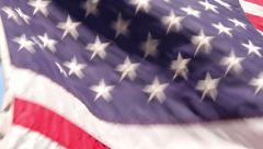 close up of us, american flag, stars and stripes - stock footage