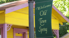 Welcome to old town spring sign Stock Footage
