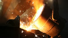 Hard, manual work in a foundry. - stock footage