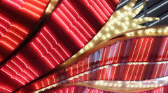 Red Neon Sign Nightlife Flamingo Hotel Casino Lights Display Las Vegas Strip - stock footage