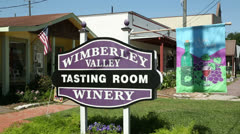 Wimberley winery tasting room in old town spring Stock Footage