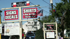 Signs for merchant shops in old town spring, texas Stock Footage