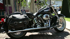 Harley davidson motorbike Stock Footage