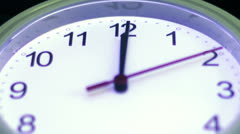 Macro - hyperlapse of a clock - timelapse Stock Footage