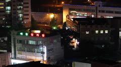 Wabu Town at Night time lapse Stock Footage
