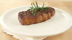 Flash-fried beef served with gravy Stock Footage
