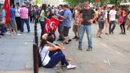 Stock Video Footage of Crowd of people meet at Gezi Park next to Taksim square