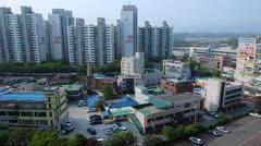 Time Lapse of Wabu City, Korea Stock Footage
