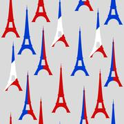tour eiffel seamless pattern - stock illustration