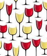 Wine glass seamless pattern Stock Illustration