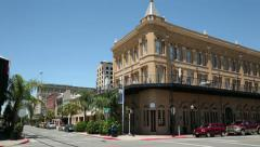 buildings in galveston historic district, texas, usa - stock footage