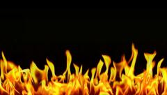 Fire Lower Third with Alpha Channel 24p Loop Stock Footage
