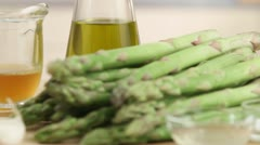 Green asparagus Stock Footage