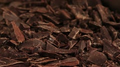 Chocolate being chopped Stock Footage