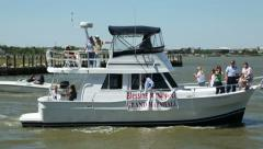 Grand marshall boat, blessing of the fleet festival Stock Footage