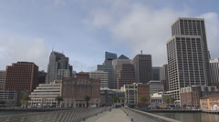 The Financial District and San Francisco Port by day, California, USA Stock Footage