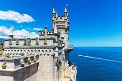 Swallow's Nest Castle in Yalta, Crimea, Ukraine Stock Photos