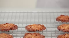 Florentines cooling on a wire rack Stock Footage