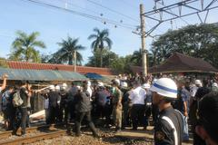 Demolition of Stalls at Station - stock photo