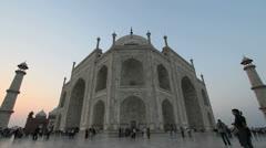 India Taj Mahal late evening Stock Footage