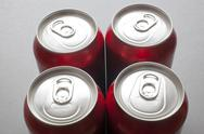 Stock Photo of unopened aluminum cans