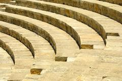 Fragment of ancient theater Stock Photos